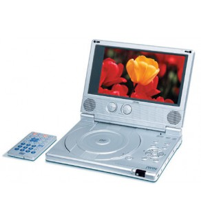 """JWIN JD-VD760 PN PORTABLE ULTRA SLIM REGION FREE CODE FREE DVD PLAYER WITH 7"""" COLOR LCD"""