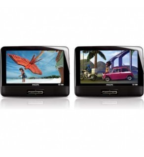 Philips PD9016 9-inch Code Free Portable LCD Dual DVD player FOR 110-220 VOLTS (Default)