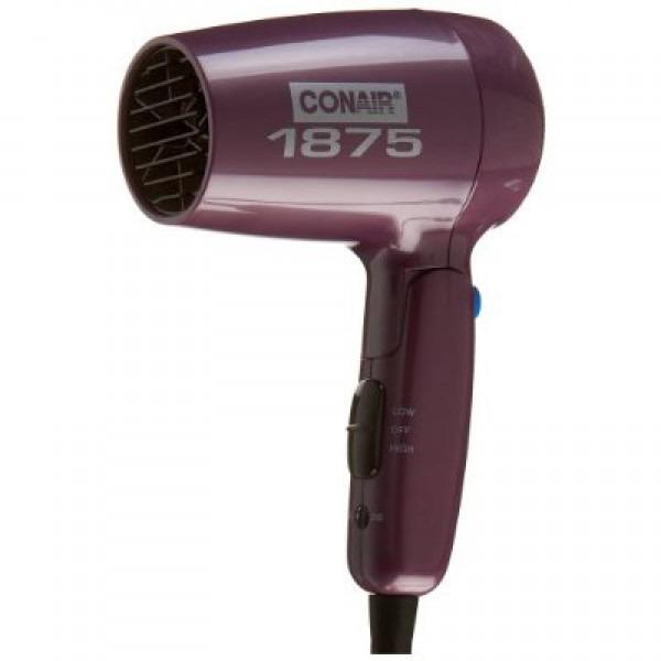 Conair 1875 Dryer ~ Conair lr folding handle watt dryer purple