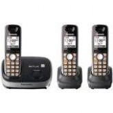 Panasonic Expandable Digital Cordless Phone KXTG6513B with 3 Handset