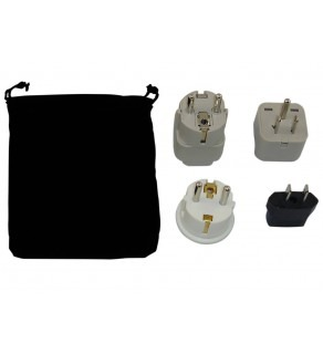 Peru Power Plug Adapters Kit with Travel Carrying Pouch - PE (Default)