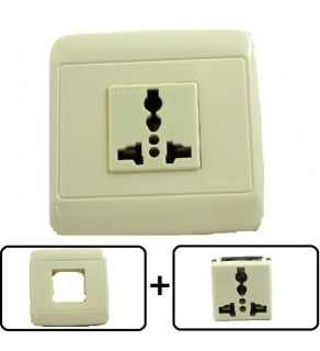 Type A through L Universal Electrical Receptacle Outlet 20 AMPS, With Cover Plate