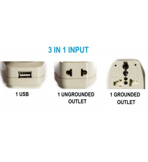 Regvolt 3 IN 1 Universal travel, adapter plug, and USB Charger 2.1 amp