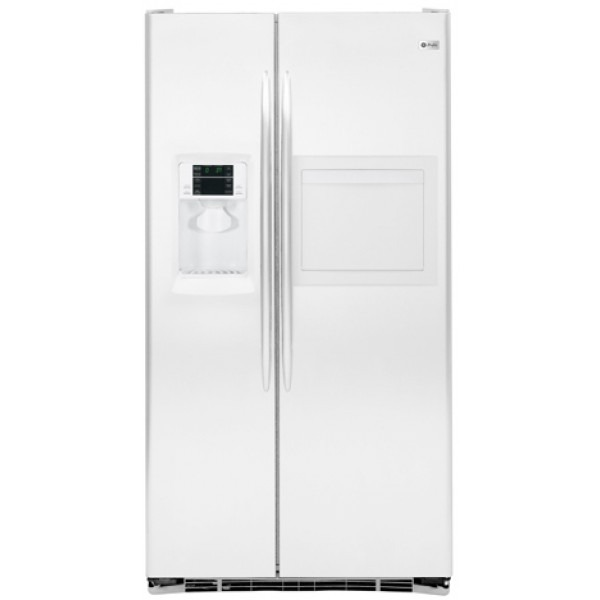 ge 27cft pse27vhxt arctica white side by side refrigerator. Black Bedroom Furniture Sets. Home Design Ideas