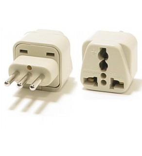 WonPro WA-12A Universal to Italy, Uruguay Grounded Travel Power Plug Adapter