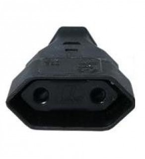 Type C Electrical AC Female Connector For Europe 2.5 Amps