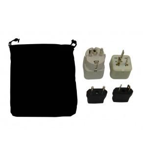 Uzbekistan Power Plug Adapters Kit with Travel Carrying Pouch - UZ