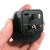Universal Schuko Adapter to New Zealand & Australia Grounded Power Plug Adapter (Black)