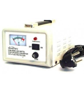 Simran SYM300, 300 Watt Step Up & Down Voltage Converter Transformer with Meter 110-220 volts