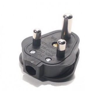 Terminate a Type M Electrical AC Male 15 Amps Power Plug for India South Afirca (Default)