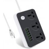 Regvolt Universal 3-outlet Power Strip with 6 USB for 110v-250v Worldwide World Wide Travel