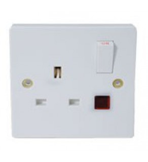 Type G Electrical Receptacle Outlet for UK 13 Amp Panel Mount Switch/Light