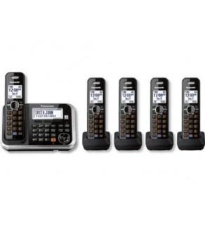 Panasonic KX-TG6845B DECT 6.0 5-Handset Cordless Telephone 110-240 Volts