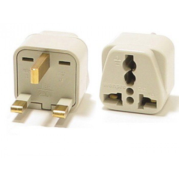 WonPro WA-7 Universal to UK Grounded Travel Power Plug Adapter ...