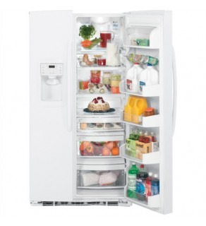 Ge 25 Cu.Ft Gse25Mgycww High Gloss White Sid By Side Refrigerator 220 Volts