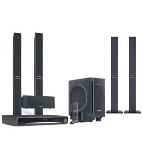 Panasonic SC-PT865W Region Free 1080p DVD Home Theatre System with wireless speakers