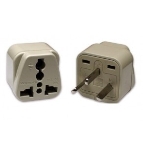 Universal to Israel Rectangular Grounded Plug adapter