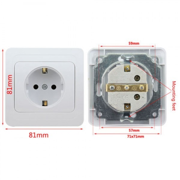 Regvolt Type C, E & F Electrical Wall Outlet German Schucko Socket ...