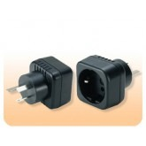 European Schuko to Australian Grounded Power Adapter Plug