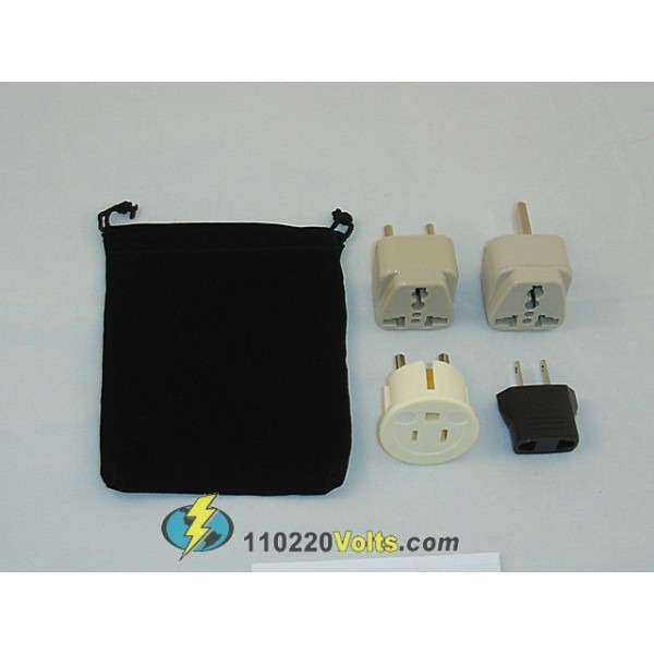Vietnam power plug adapters kit with travel carrying pouch