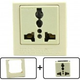 Type A through L Universal Electrical Receptacle Outlet 10 AMPS, With Panel Face