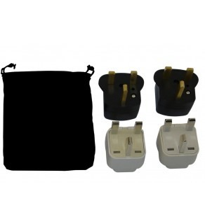 United Kingdom Power Plug Adapters Kit with Travel Carrying Pouch