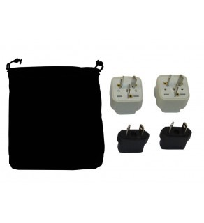 Vanuatu Power Plug Adapters Kit with Travel Carrying Pouch - VU