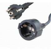 Regvolt European Extension 10, 25', 50', 75, 100', &150' Power Cord, Plug / outlet EUROPEAN SCHUKO