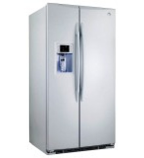 GE 27 Cu.ft GSE27NGBCWW Side by Side - Standard Depth Refrigerator 220 Volts