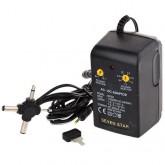 Universal AC/DC Adapter- 500mA Input: 110/220V AC