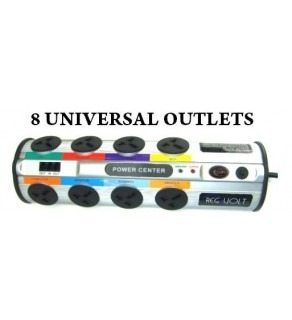 REGVOLT Universal 8-Outlet Power Strip 2390 Joules Surge Protector