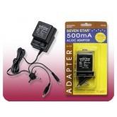 Universal AC/DC Adapter- 500mA
