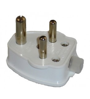 Terminate a Type D Electrical AC Male 15 Amps Power Plug for India