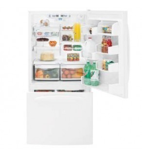 Ge 25 Cu Ft Pdse5Nbwdww White Bottom Frezer Refrigerator 220 Volts