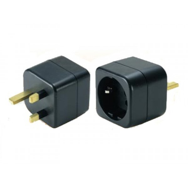 european schuko to uk grounded power adapter plug. Black Bedroom Furniture Sets. Home Design Ideas