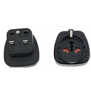 Regvolt Shucko to North American NEMA 6-15 Grounded Power Plug Adapter (Black)