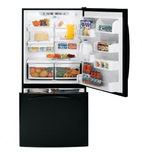 Ge 25 Cu.Ft. Pdse5Nbwdbb (Special Order) Black Bottom Freezer Refrigerator 220 Volts