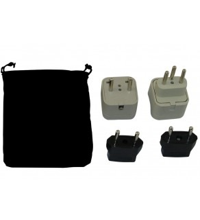 Switzerland Power Plug Adapters Kit with Travel Carrying Pouch - CH (Default)