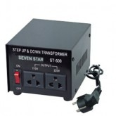 Seven Star ST-100, 100 Watts Step Up and Down Voltage Converter Transformer