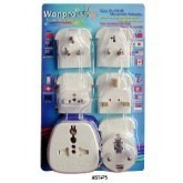 WonPro AST-P5 All IN ONE Universal Adapter Kit (AST-P5 in IVORY)