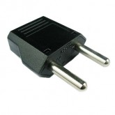 European plug adapter 2 prong round