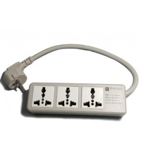 Wonpro Universal 3-Outlet Power Strip for Worldwide Travel with Surge Protector