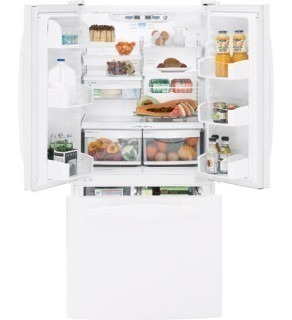 Ge 25 Cu.Ft. Pfse5Njwdww White Three-Door Refrigerator For 220 Volt