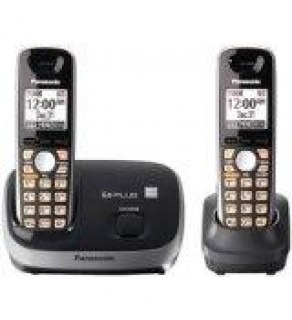 Panasonic Expandable Digital Cordless Phone KXTG6512B with 2 Handset