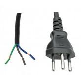 Switzerland Power Cord Swiss SEV1011 Male Plug power cord 24 feet 10a/250v (Unterminated ROJ)