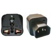 WonPro Universal IEC-320-C13 Outlets Adapter C14 Male to Universal Female