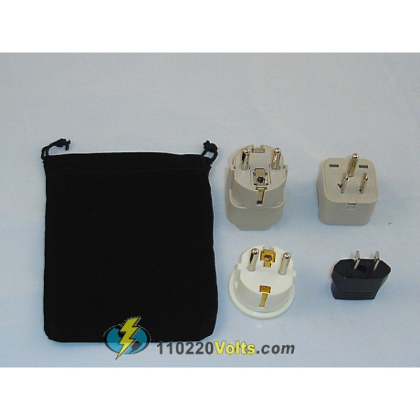 Philippines Power Plug Adapters Kit With Travel Carrying