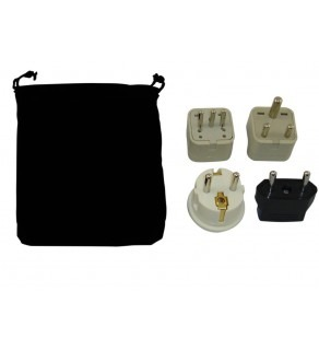 Libya Power Plug Adapters Kit with Travel Carrying Pouch (Default)