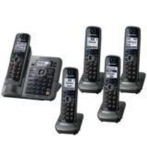 Panasonic KX-TG7645M DECT 6.0 Link-to-Cell Bluetooth Cordless Phone with 5 Handsets FOR 110-220 VOLT