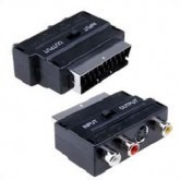 Universal Scart to AV + S-Video Input & Output Adapter 21 PIN